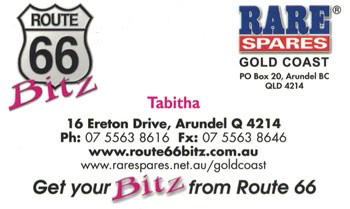 Route 66 Rare Spares Gold Coast
